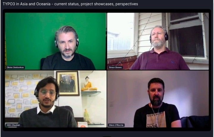 A screenshot of TYPO3 online meeting