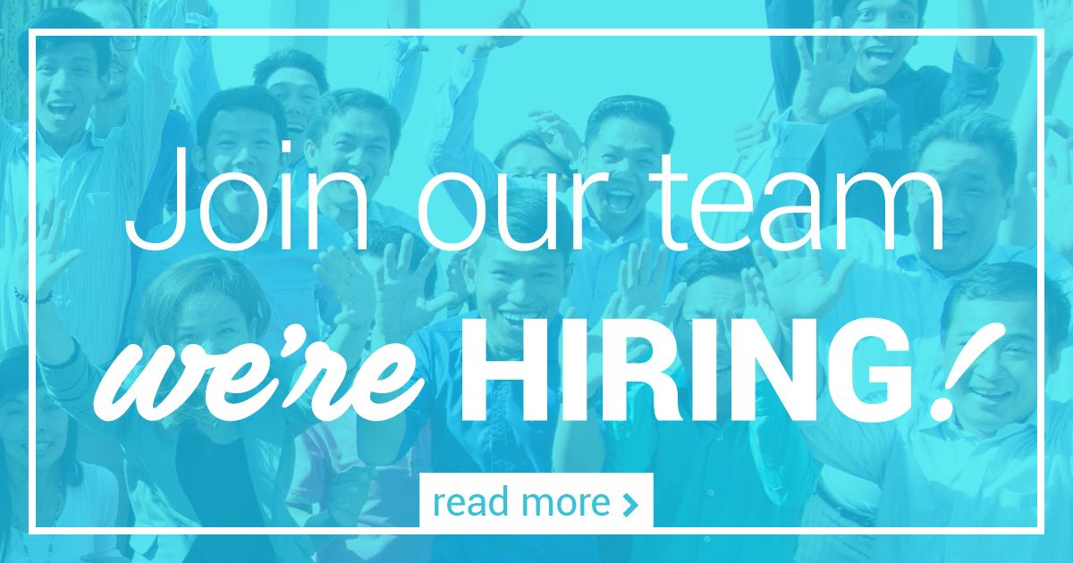 Image reading: Join us, we're hiring!