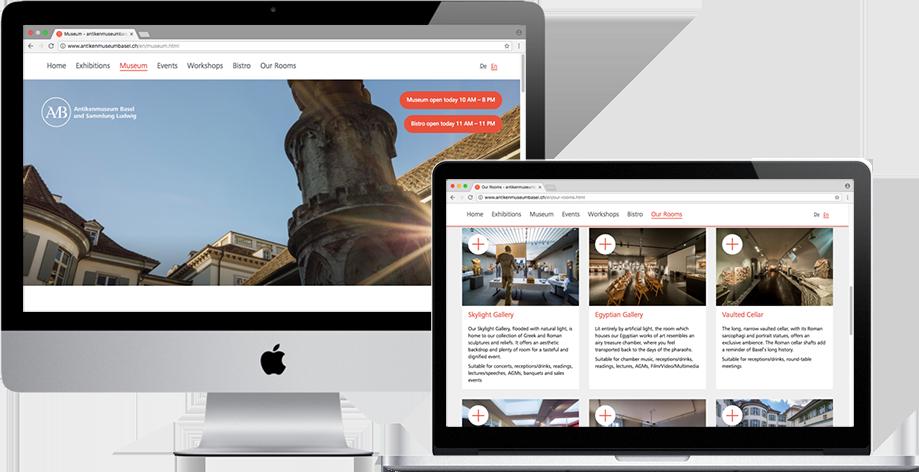 Antikenmuseum Basel new website