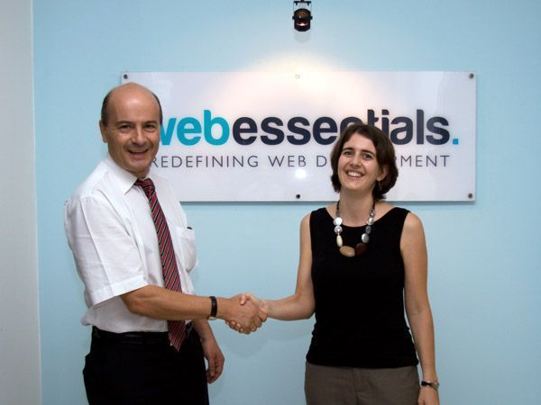 The Swiss Ambassador in Thailand visits the Web Essentials office in Cambodia.