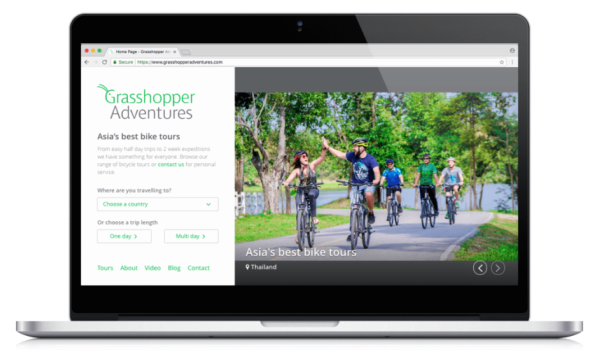 Grasshopper bike tours homepage