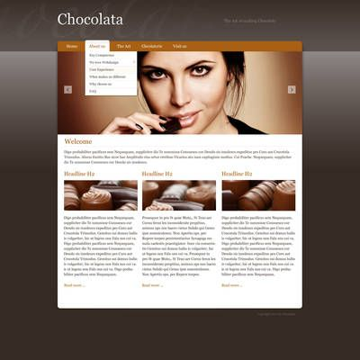 Screenshot of a webpage using a dark colored template with customized styling.