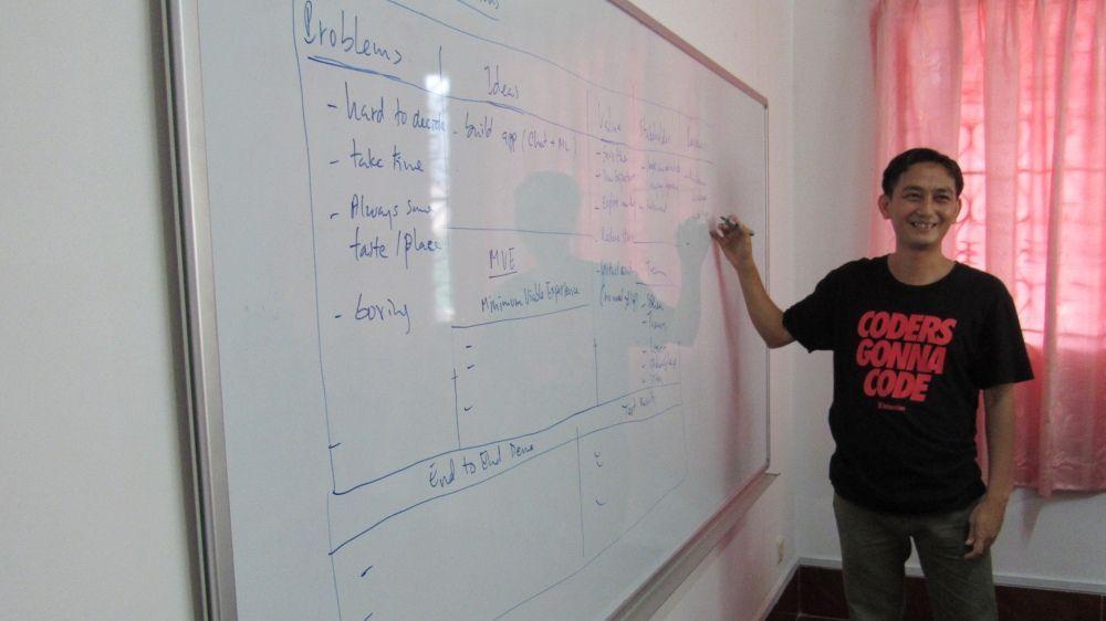 Innovation ideas on whiteboard