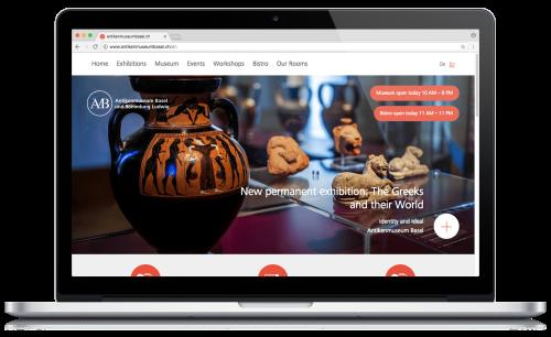 Antikenmuseum Basel desktop website