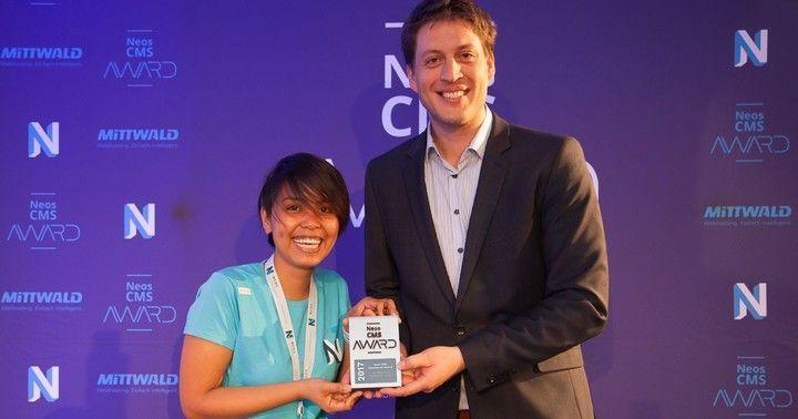 Dominik Stankowski receives Neos Excellence Award