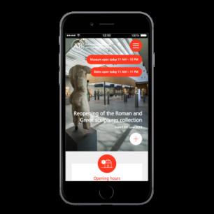 Antiken museum website mobile view