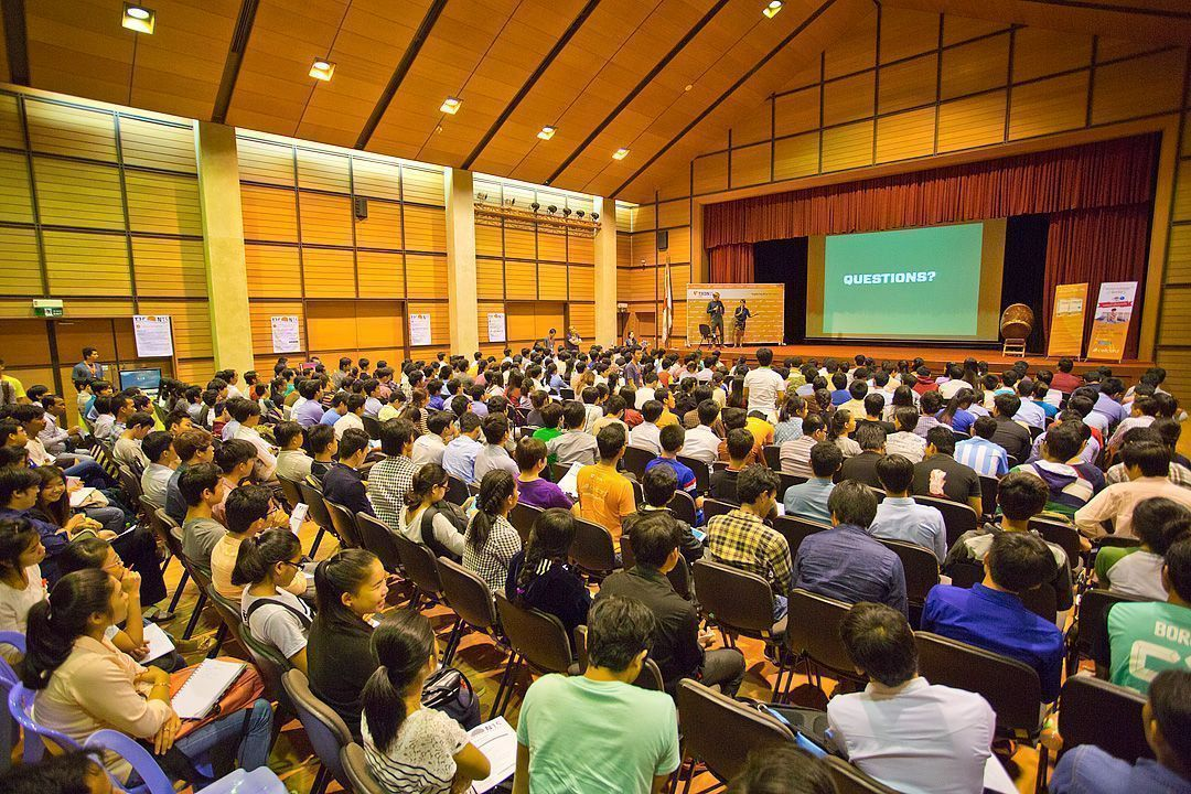 Wide angle shot of the entire audience during the T3CON15 Asia Student Day.