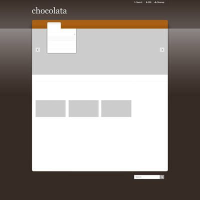 Wireframe of a webpage layout using a dark colored template.