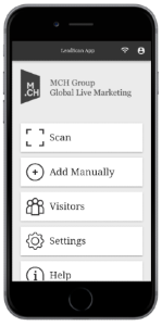 Mobile View of Leadscan App