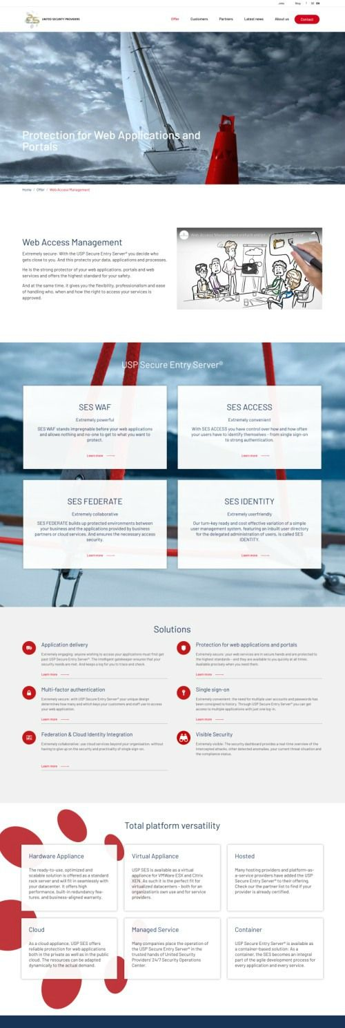 The website now has a modern, full-width design