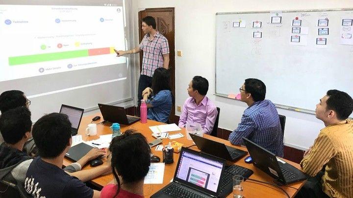 Cambodians digitizing swiss voting