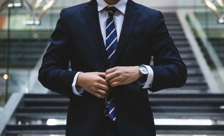 generic salesman in suit